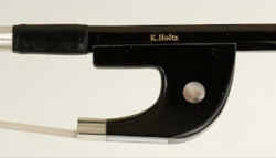 K. Holtz K. Holtz 1/8 fiberglass German-style bass bow with ebony frog and horsehair