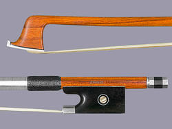 Ipe / silver-mounted violin bow