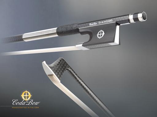 CodaBow CodaBow DIAMOND SX Violin Bow, with GlobalBow Technology (Full Size), USA