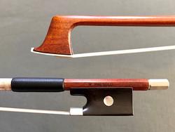 R. PAESOLD round Pernambuco violin bow, nickel