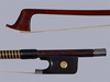 KNOPF School unbranded cello bow, ebony/silver