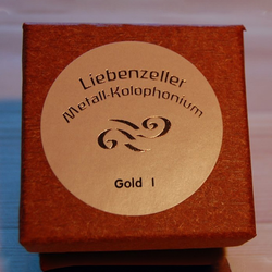 Liebenzeller Liebenzeller Gold I violin rosin (Metall-Kolophonium) Made in Germany
