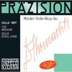 Thomastik-Infeld Prazision (Precision) chrome-wound cello string set, medium, by Thomastik-Infeld
