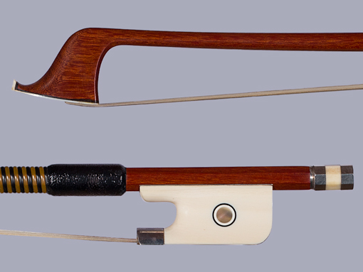 Cello bow, unbranded, ivory/silver