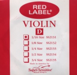 Super-Sensitive Red Label violin D 1/16