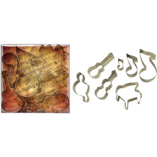AIM Gifts Music Instrument Cookie Cutters