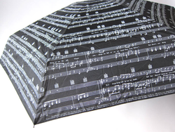Music Gifts Company Mini Umbrella - ''Raindrops Keep Falling on My Head'' Black & White