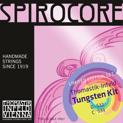 Thomastik-Infeld SPIROCORE cello tungsten G & C value pack, by Thomastik-Infeld