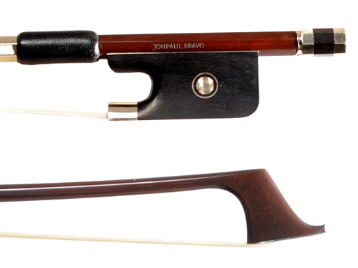 JonPaul (Discontinued) JonPaul Bravo 4/4 brown carbon composite cello bow with nickel mounted ebony frog, USA