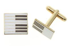 Keyboard piano cufflinks