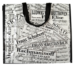 AIM Gifts SHEET MUSIC COLLAGE TOTE BAG