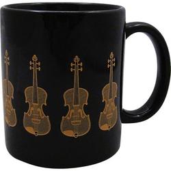 AIM Gifts Violin Mug Black and Gold
