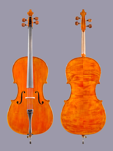 Vivo ETUDE model 4/4 carved student cello from VIVO USA, with real ebony fingerboard
