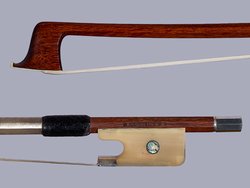 *K. MÜLLER*** Pernambuco viola bow, silver/horn