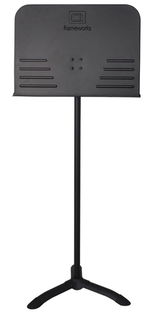 Gator Gator FrameWorks black music stand with solid desk and friction height adjustment