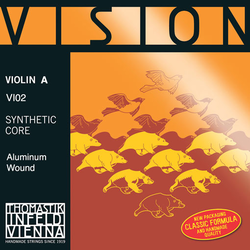 Thomastik-Infeld VISION violin A aluminum 4/4 straight, by Thomastik-Infeld
