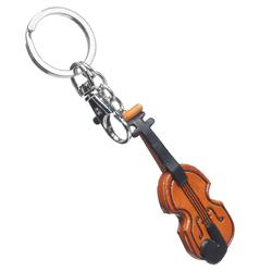 Leather Violin Keychain, handmade