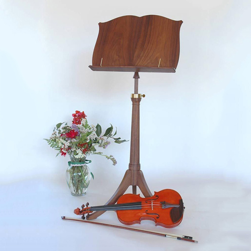 Lemurian Crafts Lemurian Crafts Regency solid desk music stand, 3 wood choices