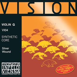 Thomastik-Infeld VISION violin G string 3/4 straight, by Thomastik-Infeld