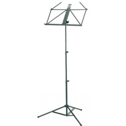 Koenig & Meyer Ruka black aluminum music stand by K&M with bag
