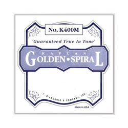 D'Addario D'Addario Kaplan Golden Spiral Solo viola D silver - discontinued