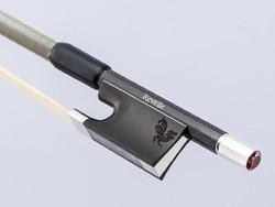 Revelle Revelle Falcon silver viola bow, braided carbon fiber, 4/4