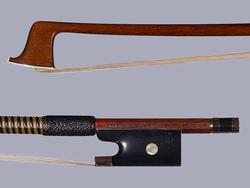 M.K. SCHUSTER violin bow, gold/ebony, GERMANY
