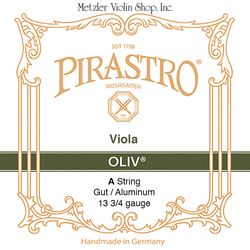 Pirastro Pirastro OLIV viola A string, gut/aluminum, medium, straight in tube