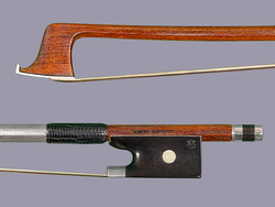 ALBERT SCHUSTER Pernambuco violin bow, silver, GERMANY