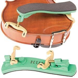 Kun Kun Collapsible MINI Green Violin Shoulder Rest, 1/4-1/8