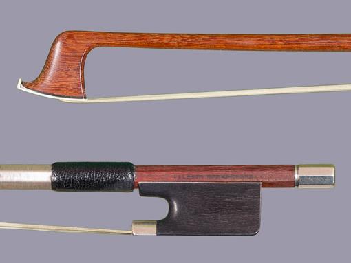 Albert Nürnberger violin bow, silver/ebony, GERMANY