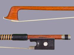 Martin Beilke violin bow, silver/ebony