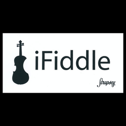Strapsey iFiddle sticker with adhesive backing, 5 1/2'' x 2 3/4''