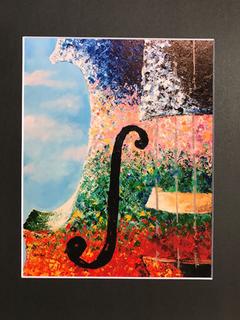 ''The Four Seasons II'' violin art print by Terri Goulard Henningson