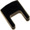 Black-finish brass cello practice mute, German 2-prong