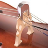Chrome-plated brass cello practice mute, German 2-prong