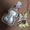 Japanese Antique porcelain violin dish with flowers, JAPAN