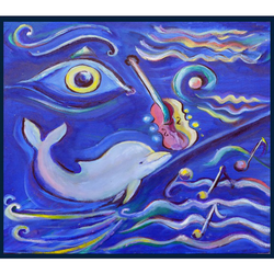 Dov ''Eye-Tunes'' Muse-Art Note Card by Dov