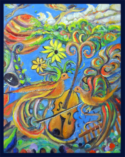 Dov ''Free Violin'' Muse-Art Note Card by Dov