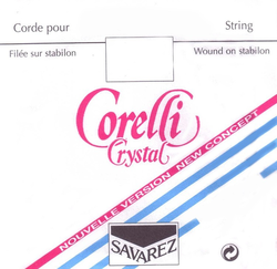 Corelli Savarez CRYSTALl violin D string light
