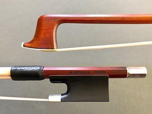 Artino *ARTINO* GERMANY silver Pernambuco violin bow, octagonal, plain frog