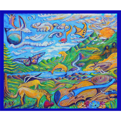 Dov ''Touch of the Sun'' Muse-Art Note Card by Dov