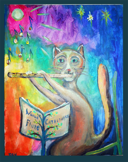 Dov ''Whole Flute Catalogue'' Muse-Art Note Card by Dov