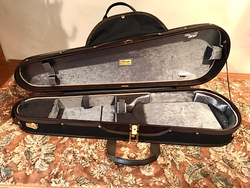 Musafia Musafia Lievissima Evolution ultra-light dart violin case, black interior, no music pocket, Cremona, ITALY