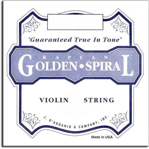 D'Addario D'Addario Kaplan Golden Spiral Solo violin E string, light, loop-end