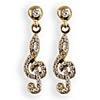 Lauren-Spencer Genuine Crystal, Topaz & Gold-Colored Treble Clef Earrings