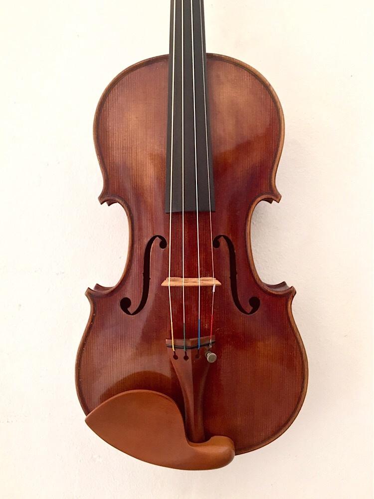Belgian Rene Aerts violin, ca 1928, Bruxells, signed by F. Kreisler, E. Ysaye, M. Elman & J. Thibaud
