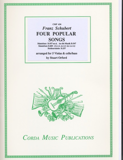 Schubert, Franz (Orford): 4 Popular Songs (5 violas and cello or bass)