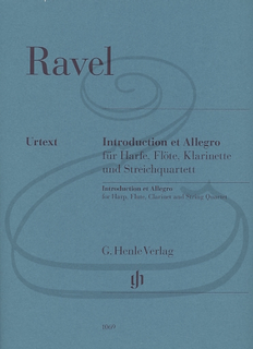 HAL LEONARD Ravel (Jost): Introduction & Allegro - URTEXT (string quartet, harp, flute, & clarinet) Henle Verlag