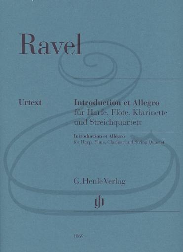 HAL LEONARD Ravel (Jost): Introduction & Allegro - URTEXT (string quartet, harp, flute, & clarinet) Henle Verlag